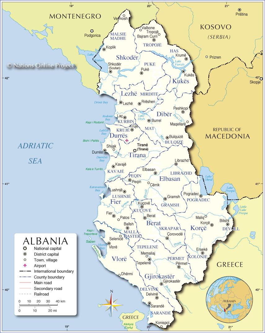 albania kart jale | V.A. albania kart